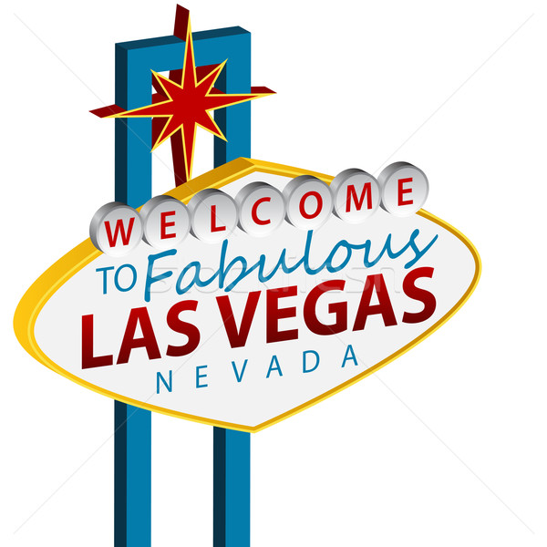 Bienvenue Las Vegas signe image rouge blanche Photo stock © cteconsulting
