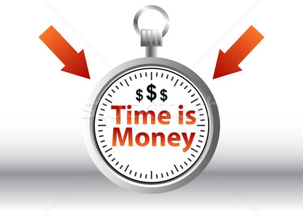 Время-деньги изображение деньги фон искусства время Сток-фото © cteconsulting
