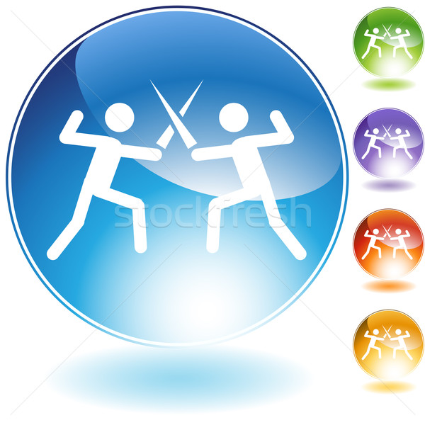 Fencing Crystal Icon Stock photo © cteconsulting
