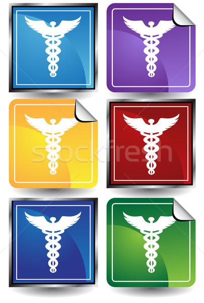 Caduceus Medical Symbol vector illustration © John Takai