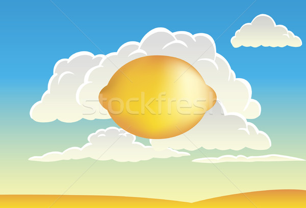 Stock photo: Clouds and Lemon