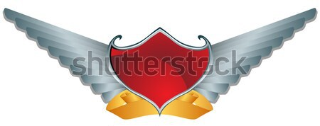 Red Shield with Swords Stock photo © cteconsulting