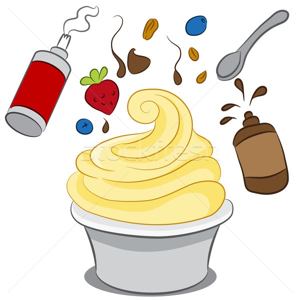 Congelado yogurt imagen taza fresa Foto stock © cteconsulting