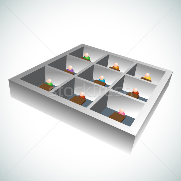 3d Office Cubicles Stock photo © cteconsulting