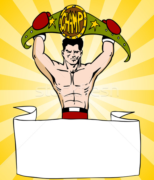 Champion Boxer With Sign Stock photo © cteconsulting