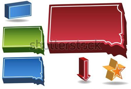 Айова 3D набор иконки дизайна Сток-фото © cteconsulting