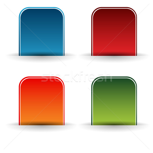 Insert Marker Button Icon Set Stock photo © cteconsulting