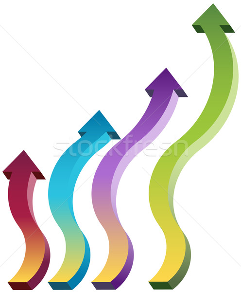 Upward moving arrows Stock photo © cteconsulting