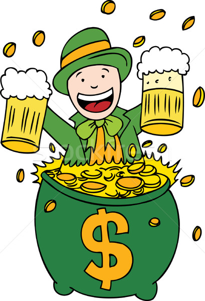 Lucky Beer and Gold Stock photo © cteconsulting