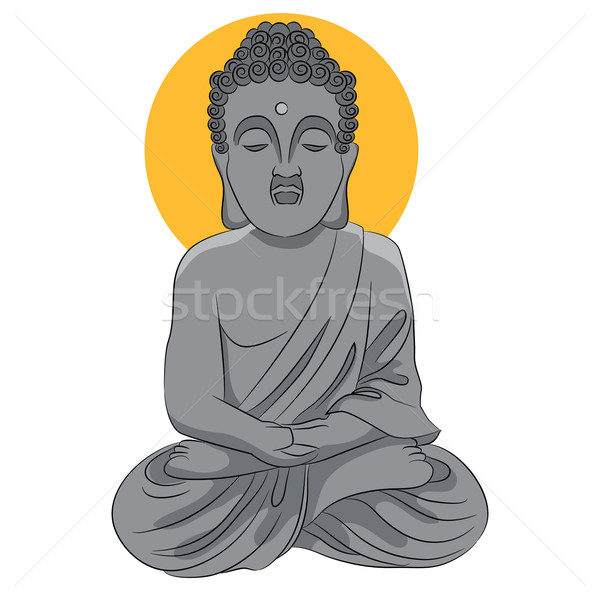 Buddha statue icône image culte dieu Photo stock © cteconsulting