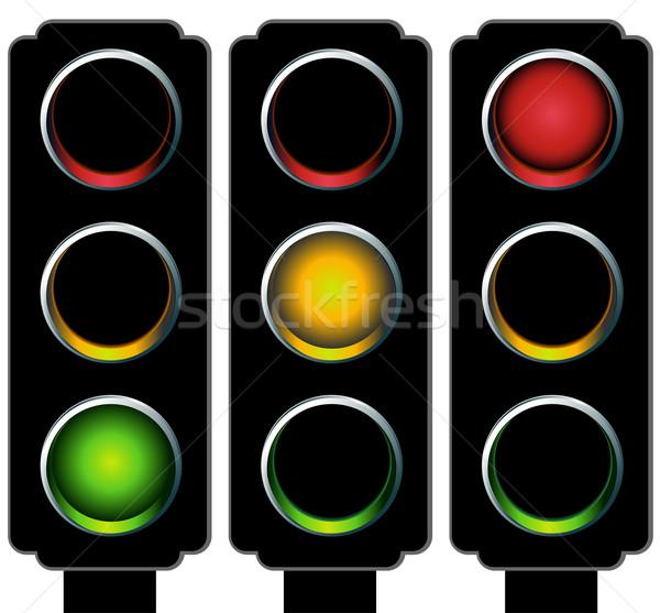 信号 セット 画像 3D 光 通り ストックフォト © cteconsulting