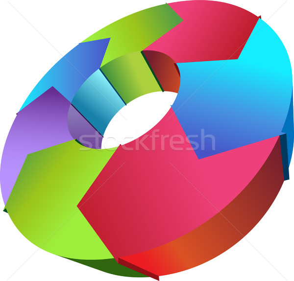 Stock photo: Cycle Process - Clockwise