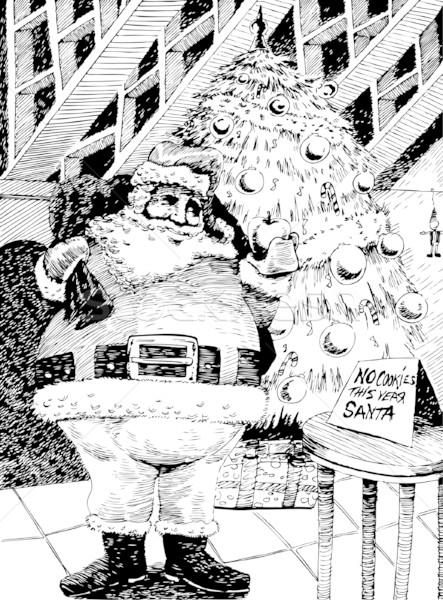 рисованной изображение Дед Мороз дерево аннотация Сток-фото © cteconsulting