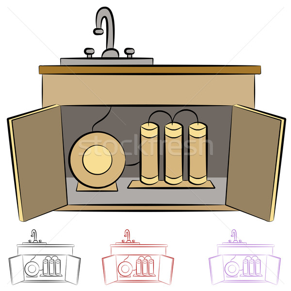 Kitchen Sink Water Filtration System Stock photo © cteconsulting