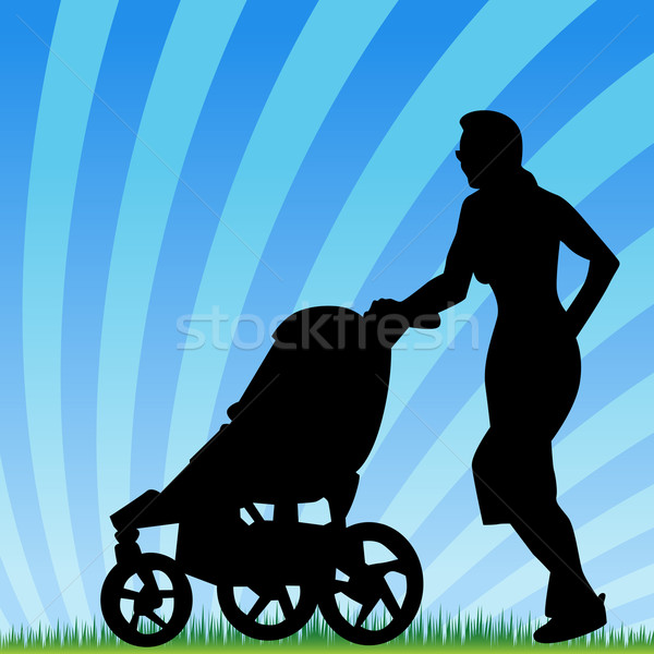 Jogging With Stroller Stock photo © cteconsulting