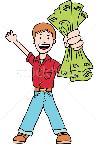 Pénzkeresés férfi pénz kéz pénzügy bank Stock fotó © cteconsulting