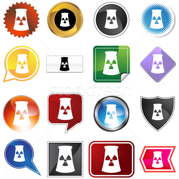 Nuclear Powerplant Icon Set Stock photo © cteconsulting