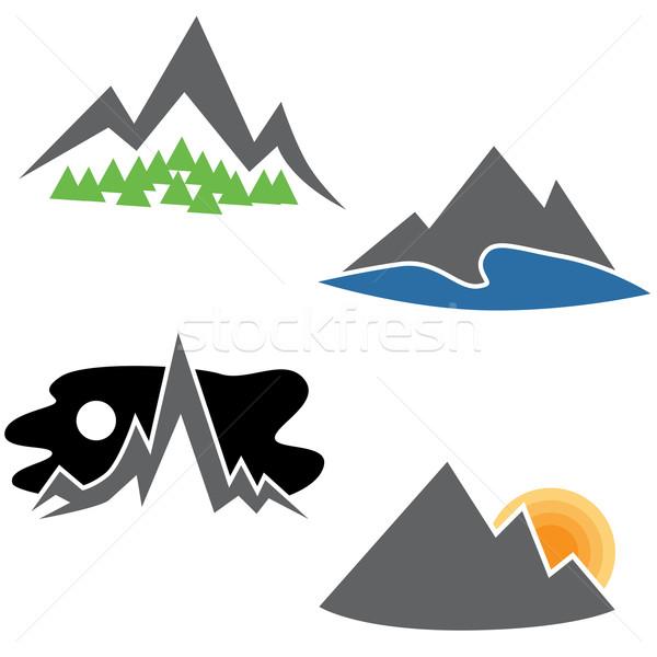Montanha alcance conjunto imagem abstrato árvore Foto stock © cteconsulting