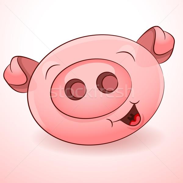 Happy Pig Icon Stock photo © cteconsulting