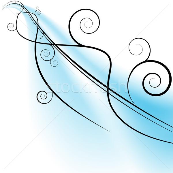 Folyik szél örvények kép kék csík Stock fotó © cteconsulting