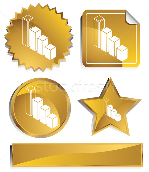 Gold - Bar Graph Stock photo © cteconsulting