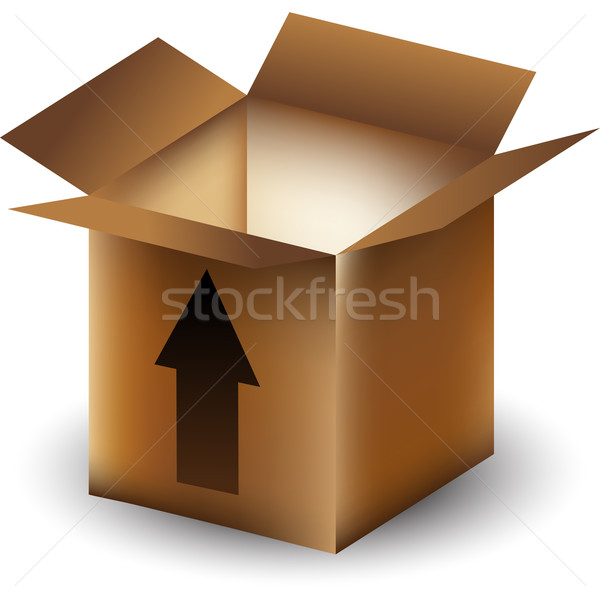 Stock photo: Arrow Box