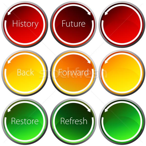 Backward Forward Arrow Button Set Stock photo © cteconsulting