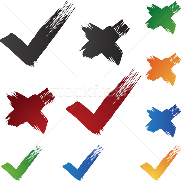 Stock photo: Checkmark Brushstrokes