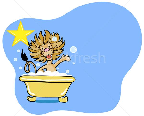 Leeuw bad star genieten zoals Stockfoto © cteconsulting