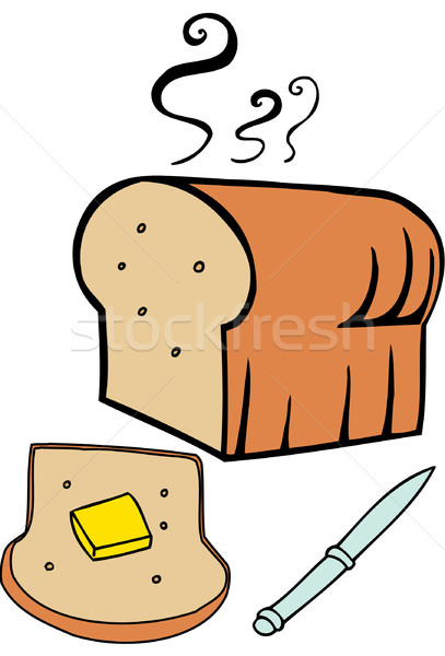 Heißen Brot Laib Butter Design Grafik Stock foto © cteconsulting
