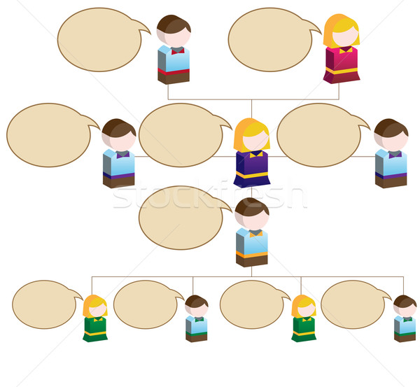 Youthful Org Chart Stock photo © cteconsulting