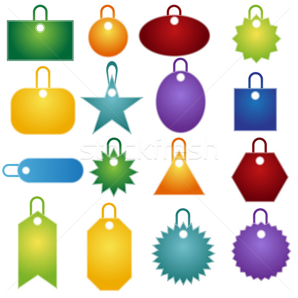 Multiple Tag Icons Stock photo © cteconsulting