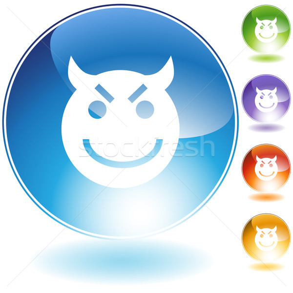 Evil Grin Emoticon Stock photo © cteconsulting