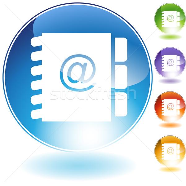 Address BookCrystal Icon Stock photo © cteconsulting