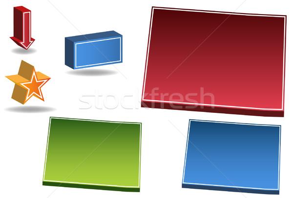 Colorado conjunto 3D ícones mapa Foto stock © cteconsulting