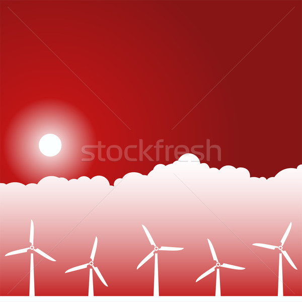 Day Scene - Wind Turbines Stock photo © cteconsulting