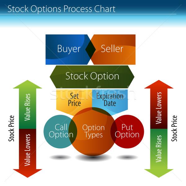 Stock Options Process Chart Stock photo © cteconsulting