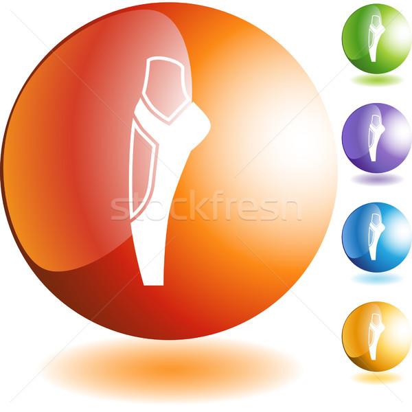 Bale terlik ikon düğme simge yalıtılmış Stok fotoğraf © cteconsulting