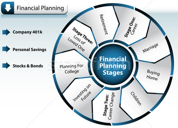 Planification financière graphique image maison enfants mort Photo stock © cteconsulting