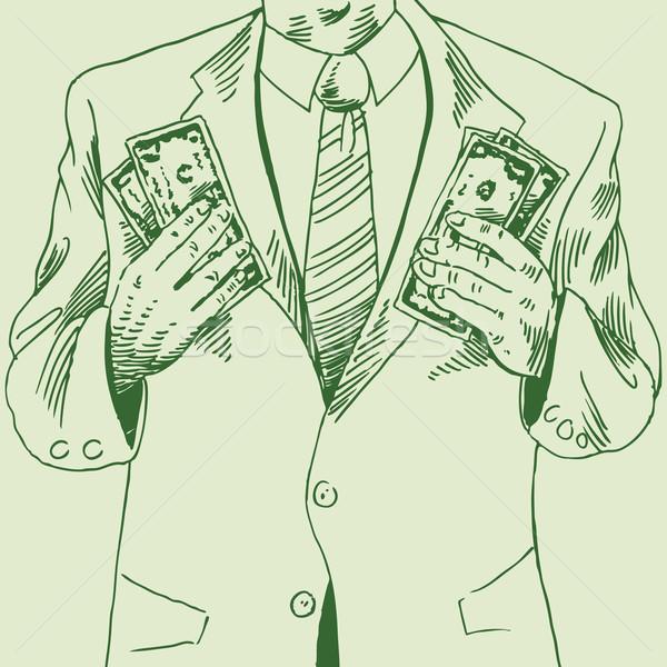 Cash in 2 Hands Stock photo © cteconsulting