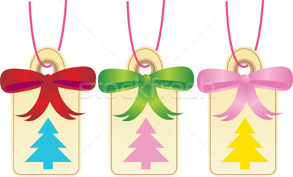Christmas Gift Tags - Tree Stock photo © cteconsulting