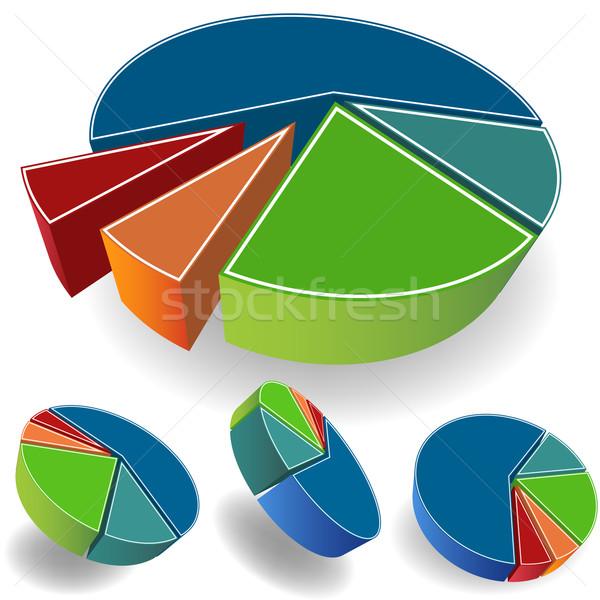 Cirkeldiagram afbeelding 3D business ontwerp kunst Stockfoto © cteconsulting