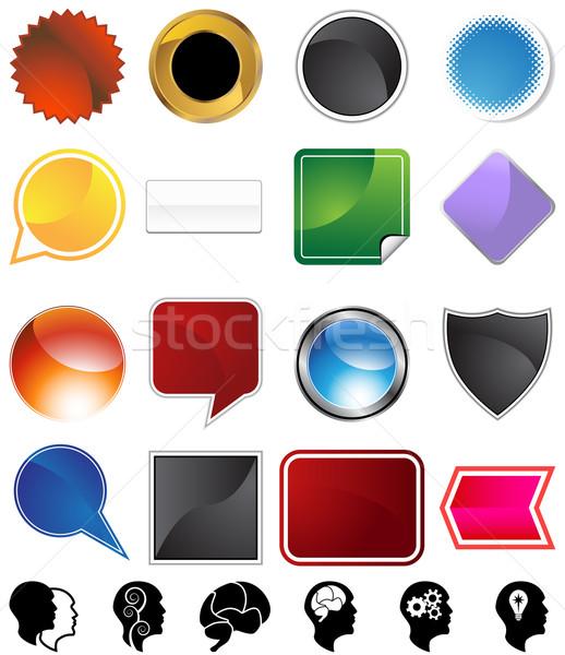 Psychologia wybór zestaw odizolowany biały człowiek Zdjęcia stock © cteconsulting