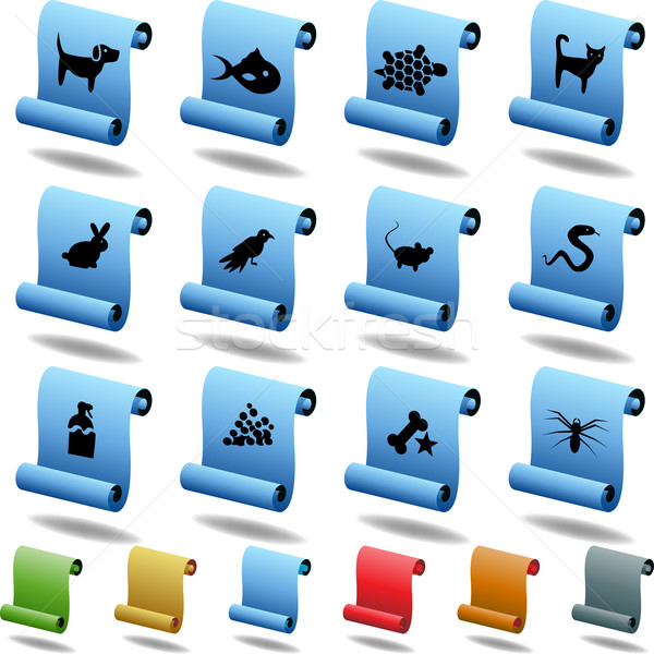 Pet web buttons - Scroll Stock photo © cteconsulting