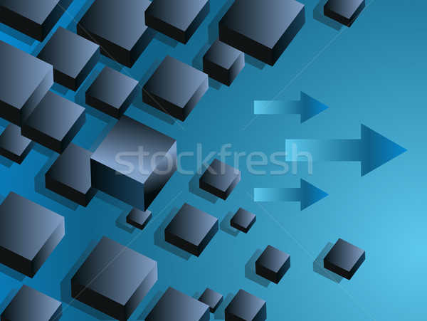 Floating Boxes Business Chart Slide Stock photo © cteconsulting