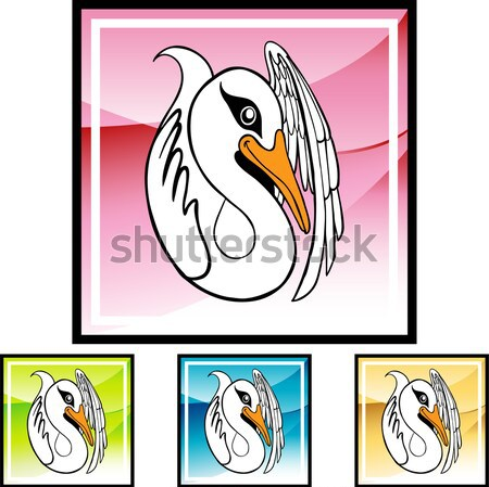 Cisne Cartoon estilizado dibujo agua Foto stock © cteconsulting