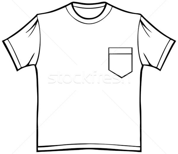 t-shirt with pocket vector illustration © john takai