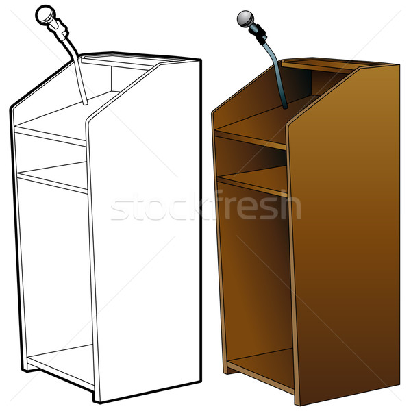 Podium Set Stock photo © cteconsulting