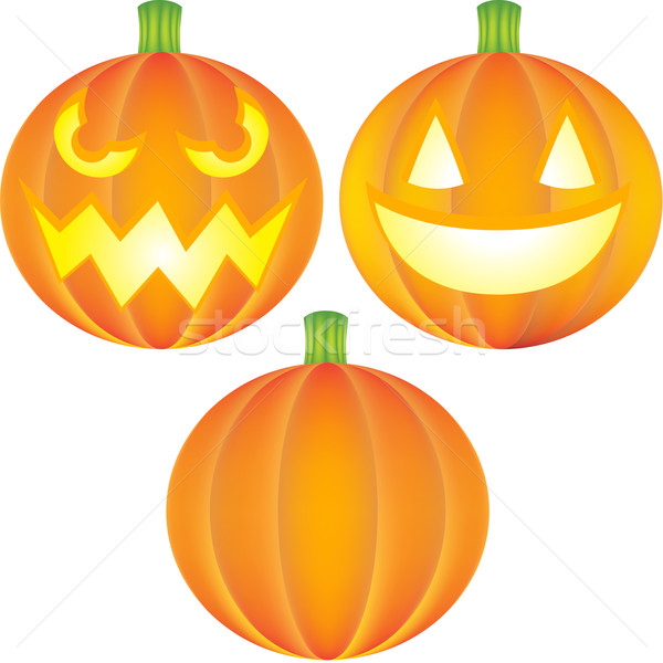Stock photo: Pumpkin Set