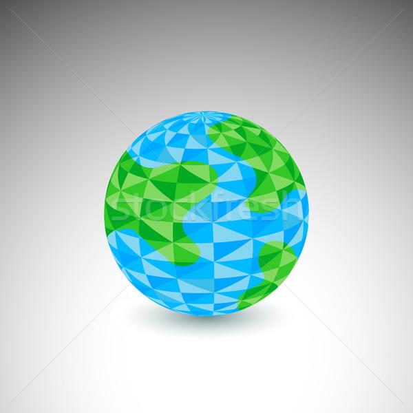 Polygon Globe Icon Stock photo © cteconsulting